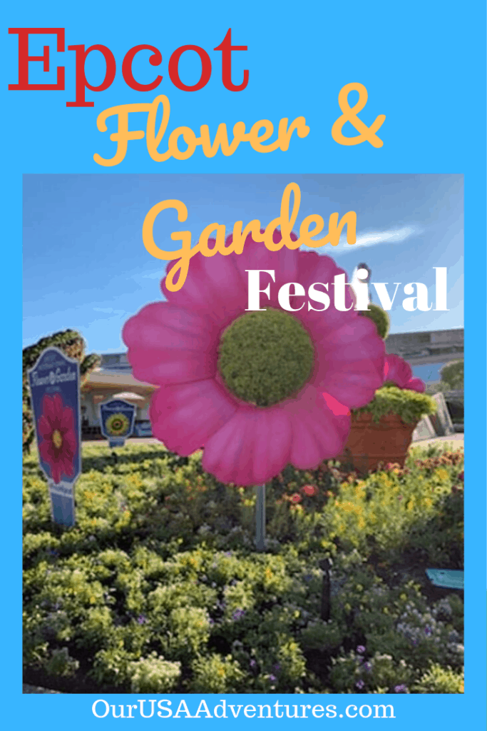Big Pink Flower from Epcot Flower and Garden Festival