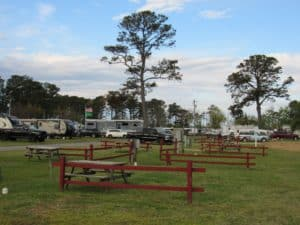 campground with site on top of each other