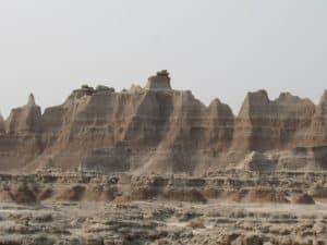 Rock Formation at Badlands National Park