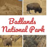4 pictures of Badlands National Park