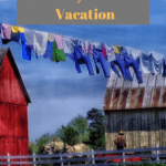 Amish Farm with laundry hanging outside