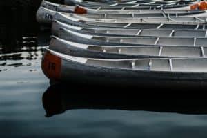 Canoeing at Echo Lake New Hampshire