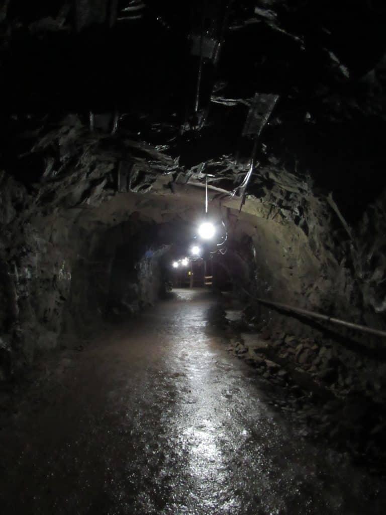 Inside a copper mine