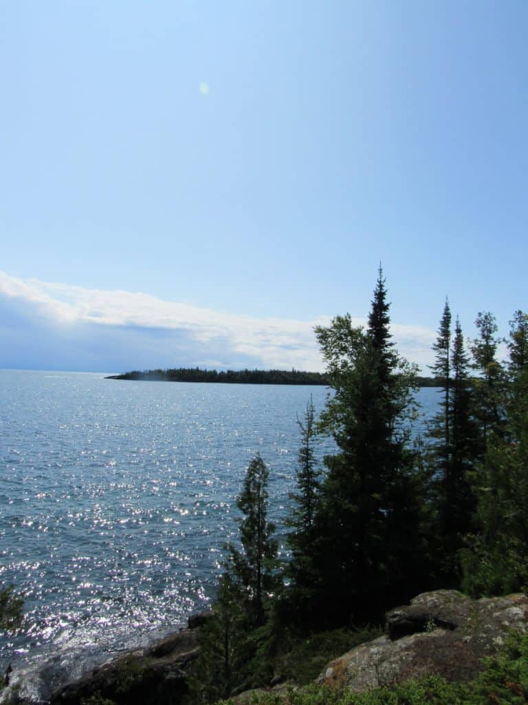 Views of Lake Superior from the main island of Isle Royale