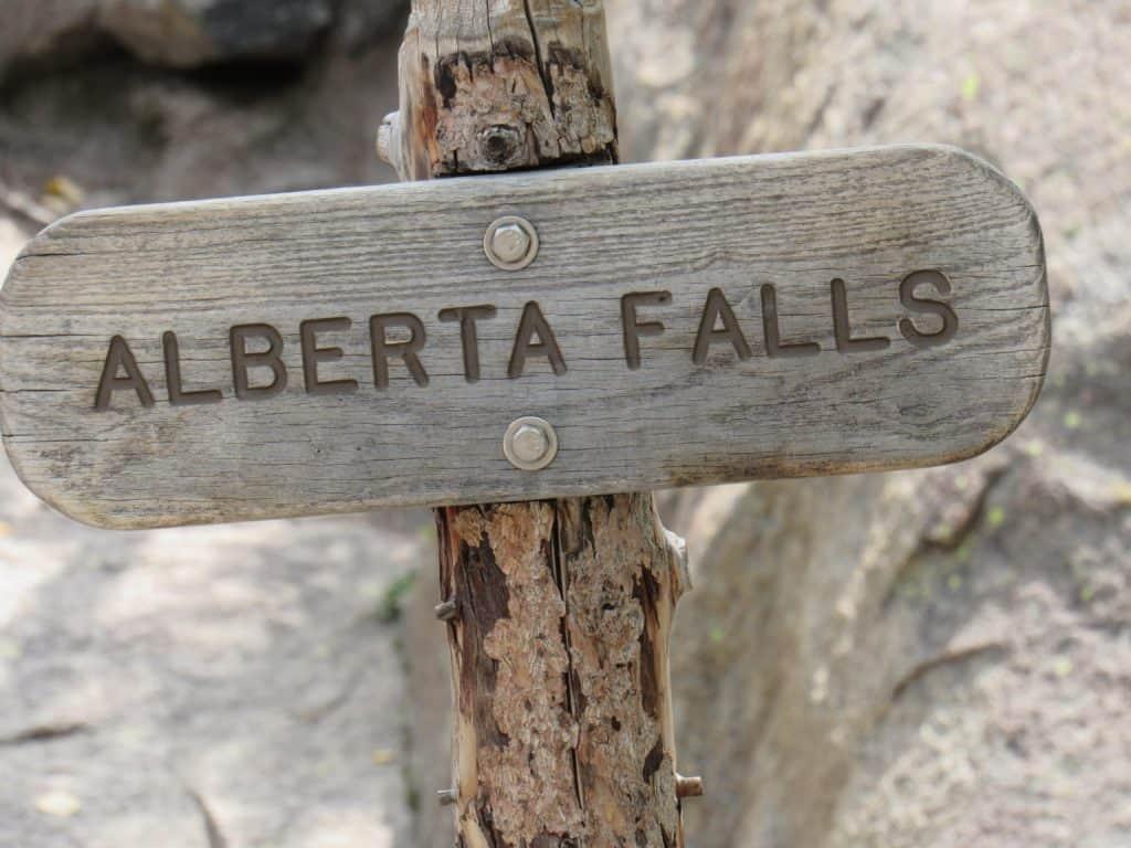 Alberta Falls Trail Sign