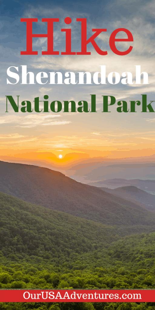 Sunset over Shenandoah National Park