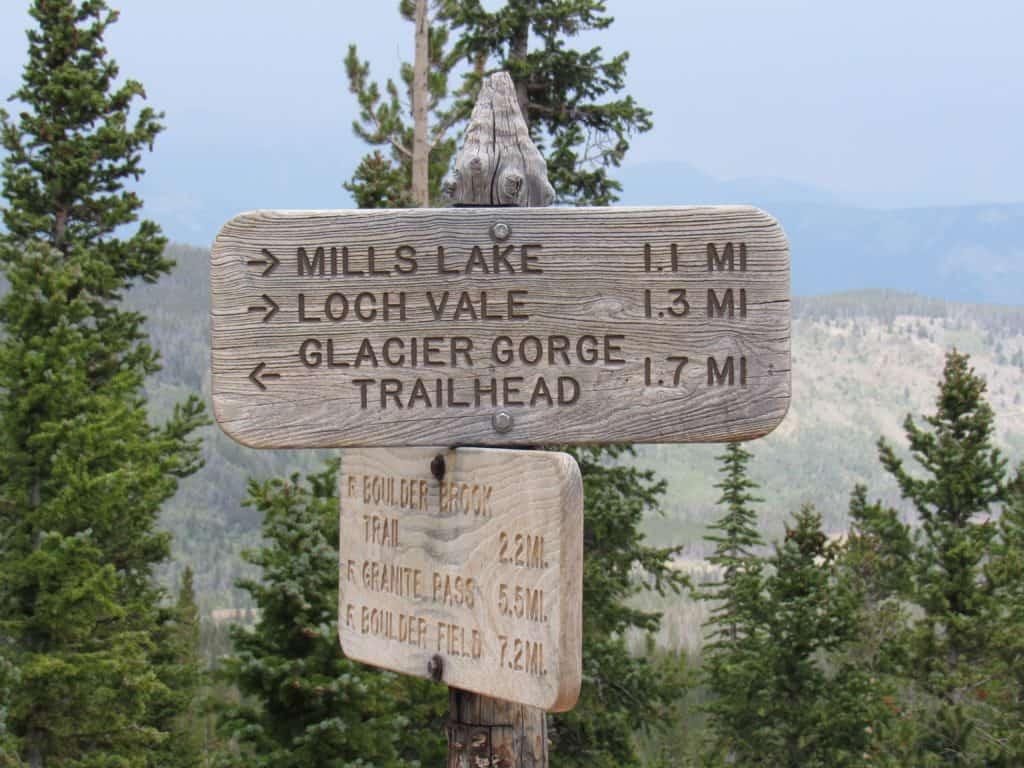 Mills Lake Trail Sign