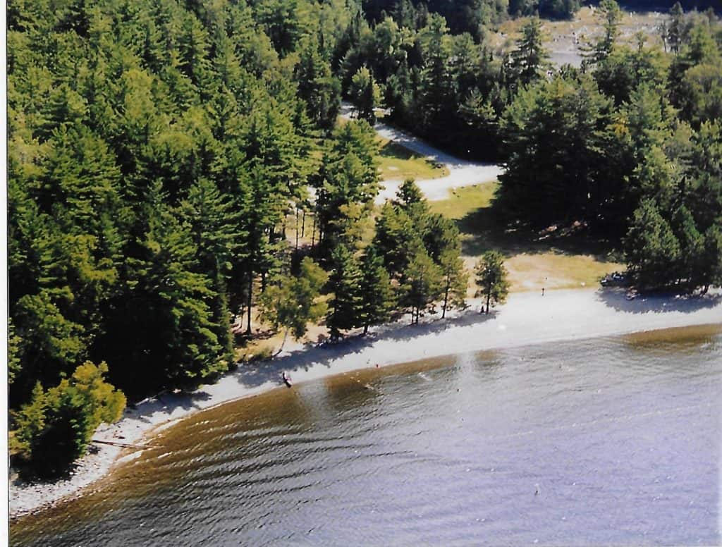 Sky View of Lily Bay State Park