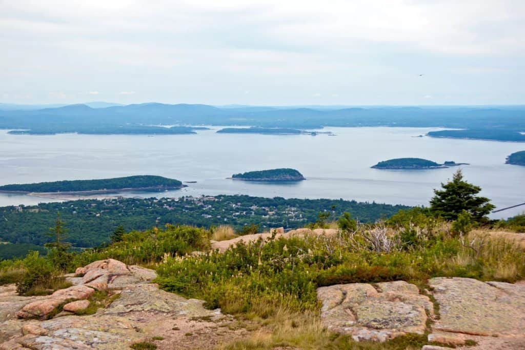 View from Cadillac Mountain in Acadia National Park