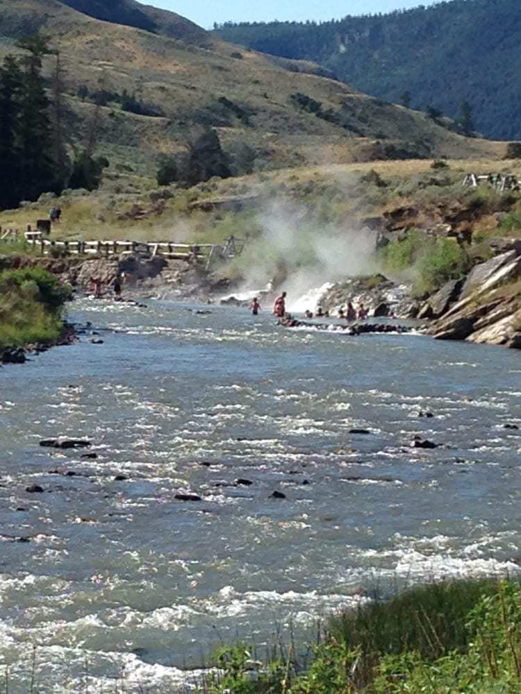 Boiling River in Yellowstone