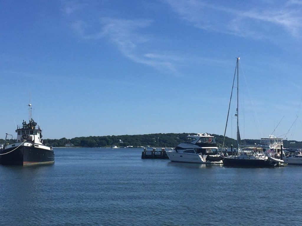 View of the water on Long Island North Fork