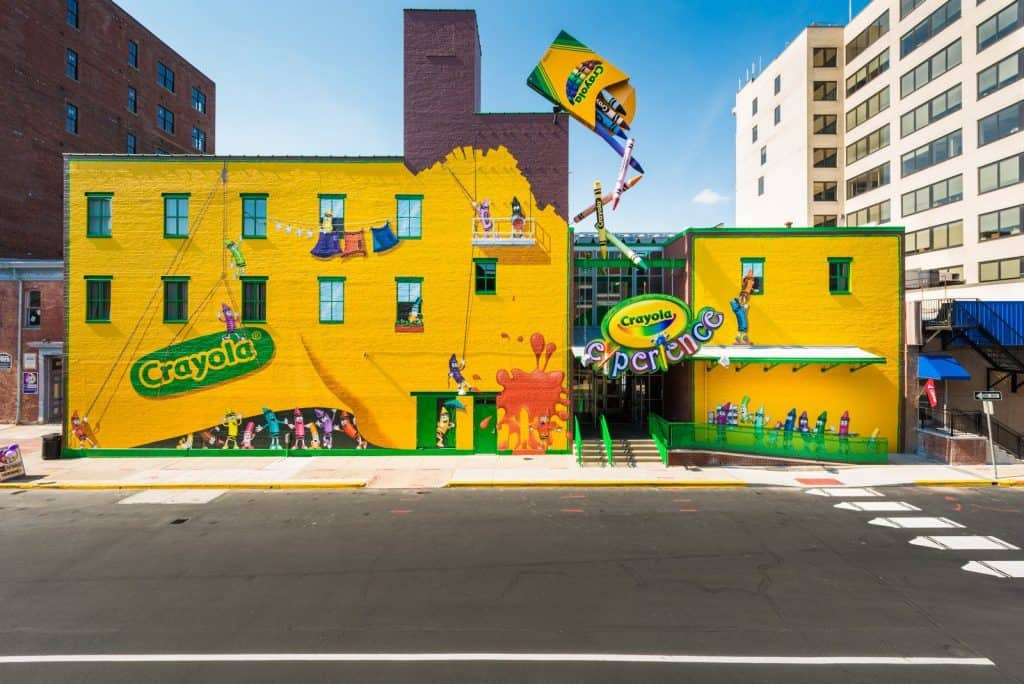 The Crayola Experience building in Easton PA