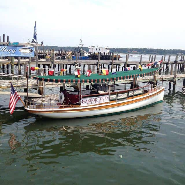 The glory, a solar powered boat on Long Island North Fork