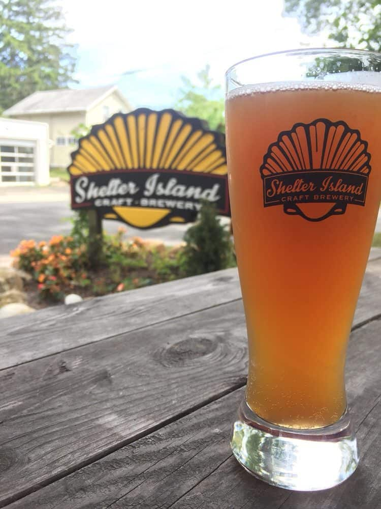 Enjoy a beer at Shelter Island Brewer Company